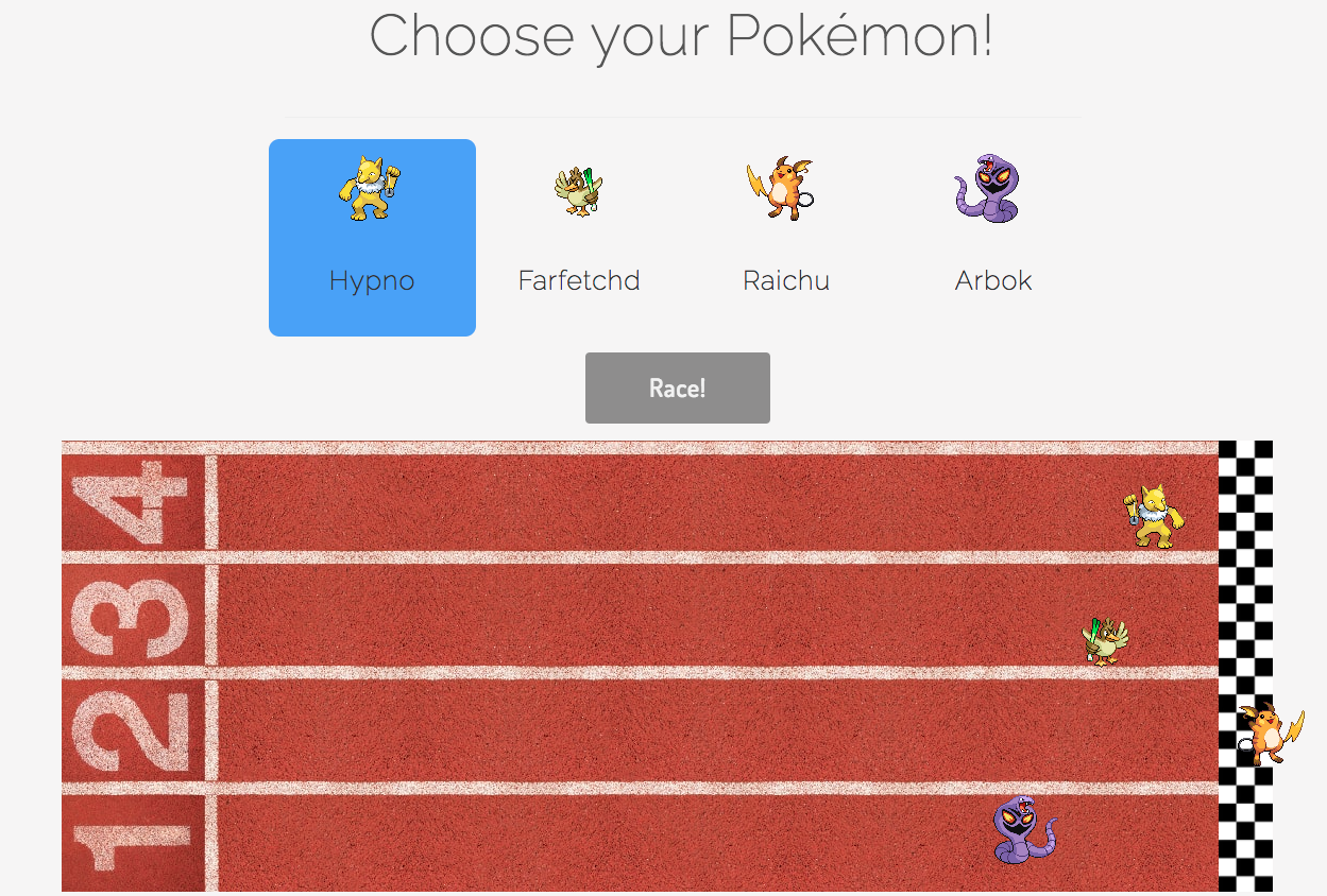 Screenshot of Pokélympics